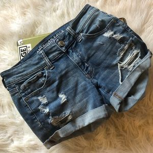 American eagle shorts with holes
